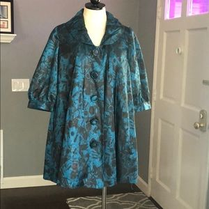 Forever 21 Printed Button Front Coat